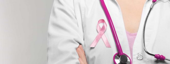 Female,Doctor,With,Pink,Ribbon.,Cancer,Concept